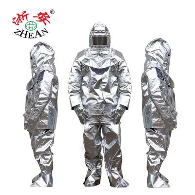浙安隔热服1000度500度防高温辐射阻燃防水烫作业防护服五件套装